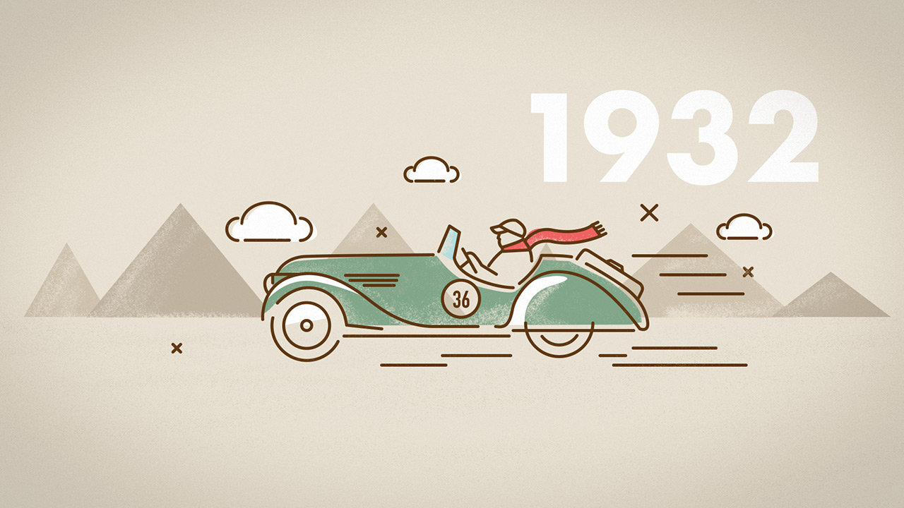 Oldtimer Rallye Illustration 2